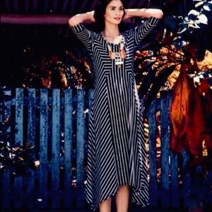 Anthro Saturday Sunday Maxi Stripe Dress